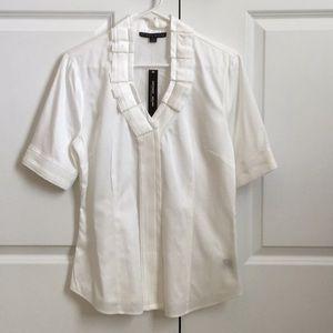 NWT Antonio Melani cream blouse, sz M